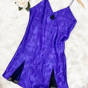 VTG Victoria's Secret Gold Label Purple Nighty